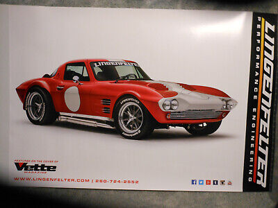 $8.75 • Buy Undated Chevrolet Corvette Grand Sport Ligenfelter Poster