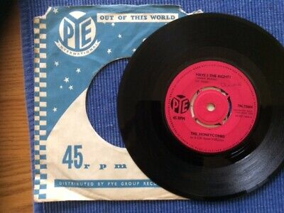 The Honeycombs. Have I The Right?. 7  Vinyl Single. 1964. Pye 7N15664. Very Good • 5£