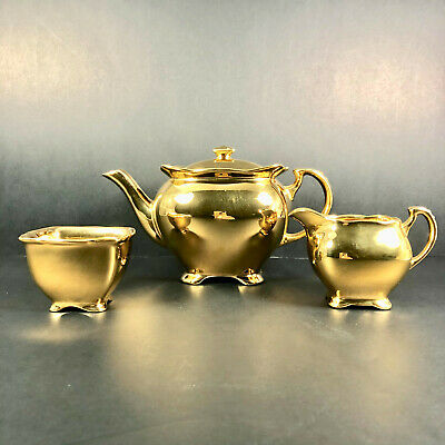 $ CDN120 • Buy Vintage Royal Winton Grimwades Gold Lustre Teapot Creamer And Sugar