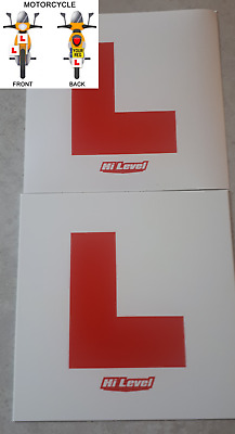 Learner L Plates For Moped Or Scooter Rigid & Sticky Motorbike L Plate Set • 4.20£