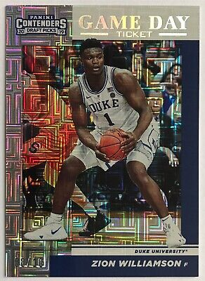 $750 • Buy Zion Williamson Panini Contenders Building Blocks Prizm Refractor Rookie SSP /10