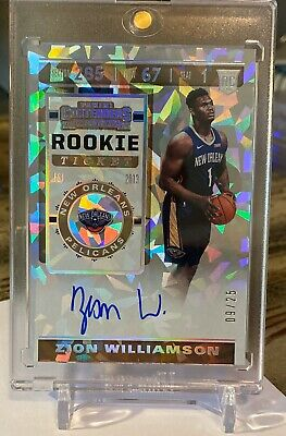 $11995 • Buy 2019-20 Contenders Zion Williamson Cracked Ice Rookie Ticket On Card Auto #9 /25