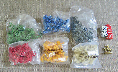 $10.95 • Buy 2003 RISK Game Replacement Pieces - 6 Color Armies, Golden Calvary, Dice