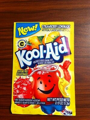 10 Packs Of Kool Aid STRAWBERRY LEMONADE Flavor Drink Mix Packet NEW Gluten Free • 5.86£