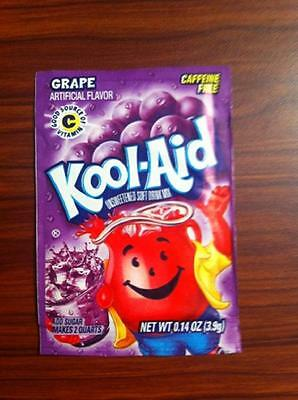 20 Packs Of  Kool Aid GRAPE Flavor Drink Mix Packet Gluten Free FREE SHIP • 9.40£