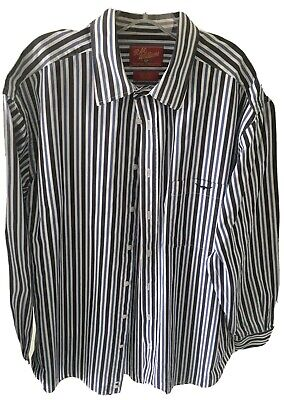 AU9 • Buy RM Williams Mens Blue And Grey Striped Cotton Shirt Size Large GC