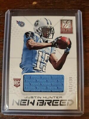 $0.99 • Buy 2013 Panini Elite New Breed Justin Hunter Rookie Jersey 61/399 Tennessee Titans