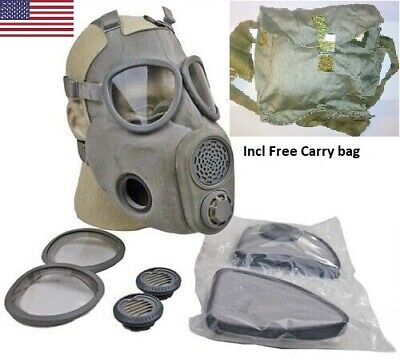 $39.99 • Buy Full Face NBC Gas Mask Respirator Military Czech M10 W/ Filters + Free Bag NOS