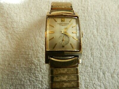 $ CDN70.70 • Buy Vintage Longines 10K Gold Filled Swiss Mens Wrist Watch Pointed Glass Working
