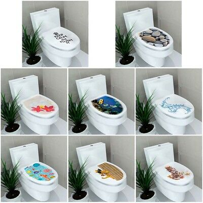 3D Toilet Seat Wall Sticker Bathroom Decorations Decal PVC Mural Funny Home Xi • 4.45£