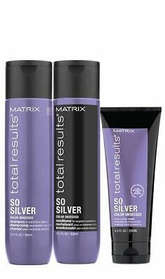 £10.99 • Buy Matrix Total Results So Silver Colour Obsessed - Shampoo - Conditioner - Mask