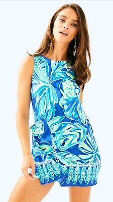 $34 • Buy Lilly Pulitzer Donna Romper Beacon Blue Green Palm Passage Womens Size 6