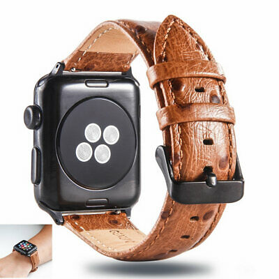 $ CDN19.08 • Buy For IWatch Apple Watch 38mm 42mm Deluxe Leather Smart Wrist Strap Watch Band