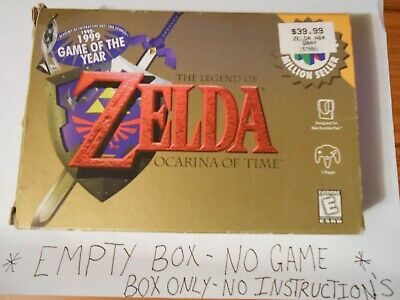 $16.99 • Buy Legend Of Zelda Ocarina Of Time (N64) BOX ONLY/NO GAME