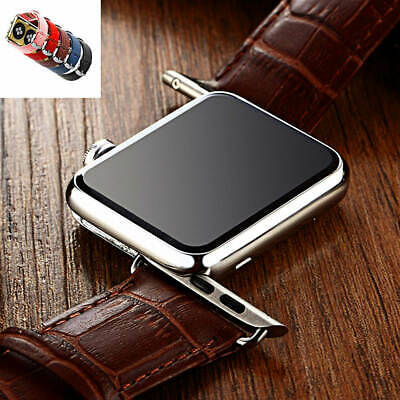 $ CDN16.25 • Buy Luxury Crocodile Pattern Leather Band Strap Watch Band For Apple IWatch 38 /42mm
