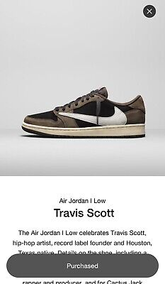 $700 • Buy Nike Air Jordan 1 Travis Scott Low, Sz. 10.5 100% Authentic