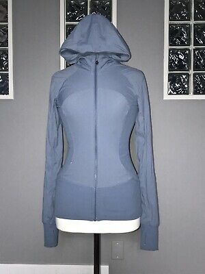 $ CDN80 • Buy Lululemon In Flux Jacket 6 Denim Blue Reversible Studio Swift Euc Slim Fit