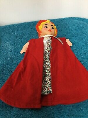 $17.99 • Buy Vintage Hand Puppet Rubber Head Red Riding Hood  Mr Rodgers Rogers Neighborhood