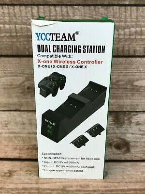 $29.99 • Buy YCCTEAM Xbox One Controller Charger With Rechargeable Battery Packs, Dual Slot