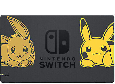 $29.99 • Buy Official Nintendo Switch Dock Pokemon Let's Go Pikachu Eevee Special Edition  VG