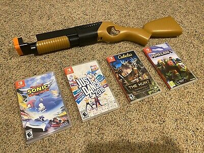 $80 • Buy Nintendo Switch Game Lot (4) Cabela's, Minecraft, Sonic Racing, Just Dance