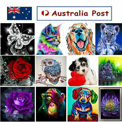 AU14.99 • Buy 5D DIY Animals Diamond Painting Kit Embroidery Cross Craft Home Wall Decoration