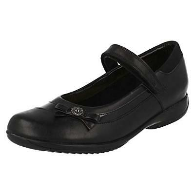 Clarks Girls School Shoes Daisy Beth Gleam Black Leather. Size UK 3-3.5 • 23.95£