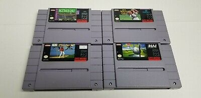 $ CDN25 • Buy 4 Super Nintendo Game Lot Original SNES  All Golf Games