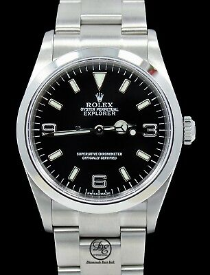 $ CDN7712.74 • Buy Rolex Explorer I 114270 Stainless Steel Oyster Black Dial Watch Mint Condition