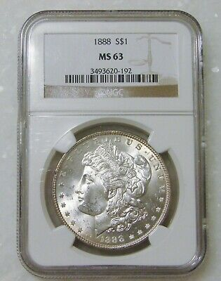 $3.88 • Buy 1888 - Morgan Silver Dollar - NGC MS 63