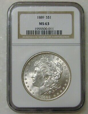 $1.75 • Buy 1889 - Morgan Silver Dollar - NGC MS 63
