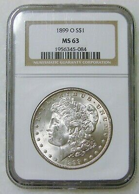 $1.25 • Buy 1899 O - Morgan Silver Dollar - NGC MS 63