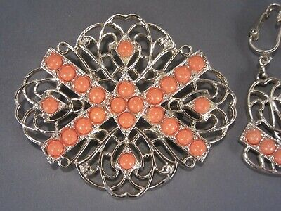$7.50 • Buy Vintage Sarah Coventry Brooch And Earrings Jewelry Set