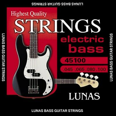 $ CDN38.75 • Buy Lunas Electric Bass Guitar Strings Set 45100 Nickel