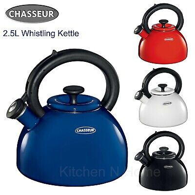 AU56.95 • Buy Chasseur Enamelled Whistling Kettle 2.5L Induction Bottom All Cook Top