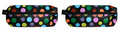 £4.99 • Buy PVC Zip Top Polka Dot Pencil Case Complete With All You Need Stationery Set