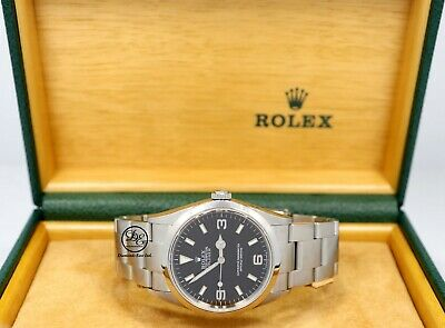 $ CDN8389.42 • Buy Rolex Explorer I 114270 Steel Oyster Black 36mm Watch Box Papers Mint Condition