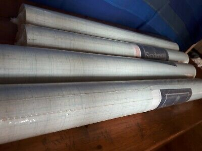 Vintage Retro Sanderson Wallpaper 4 Rolls Pale Blue 50s 60s New Atomic • 87£