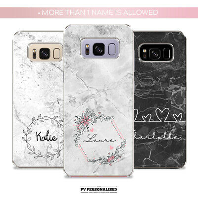 $ CDN10.28 • Buy Personalised Phone Case Cover Name Initials Silicone For Samsung S9 S7 S8 S10