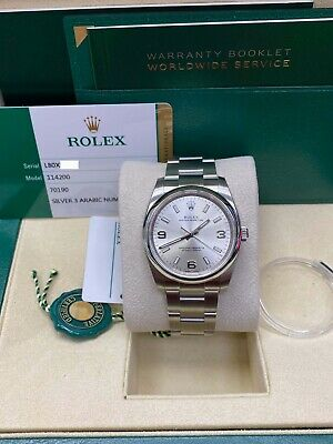 $ CDN6510.17 • Buy Brand New Rolex Oyster Perpetual 114200 Stainless Steel Box Paper STICKERS