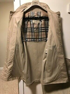 $299.99 • Buy Classic Burberry Mens Size M 38-40R Raincoat Trench/Car Coat With Garment Cover