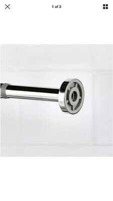Ikea HORNEN Shower Curtain Rod Easy Install Without Screw Drilling 70cm - 120cm • 20£