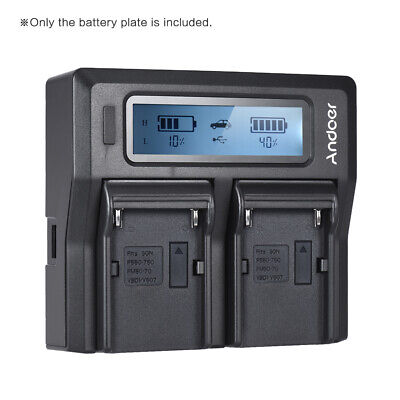 AU12.91 • Buy Andoer 2pcs NP-F970 Battery Plate For Neweer Andoer Dual/Four Channel W0X3