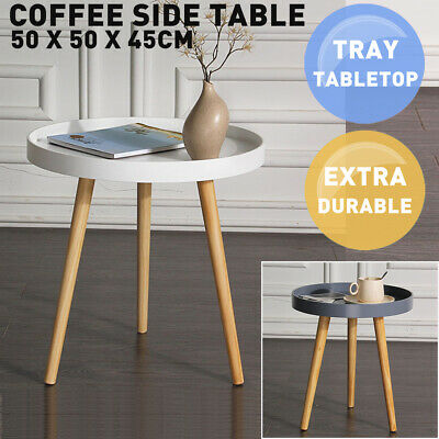 AU48.99 • Buy Aura Round Wood Coffee Table White Tray Table Top Side Tables Modern Furniture