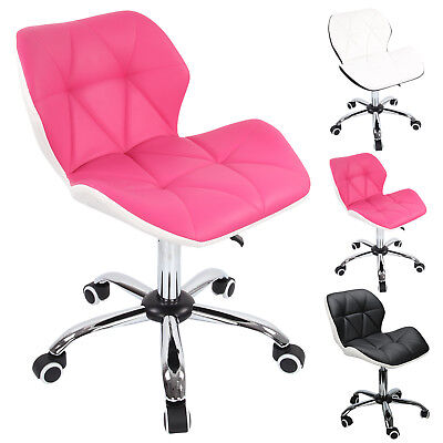 £24.39 • Buy Cushioned Computer Desk Office Chair Chrome Legs Lift Swivel Small Adjustable UK