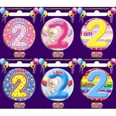 AU3.95 • Buy 2nd Birthday Badge Small BIRTHDAY PARTY SUPPLIES