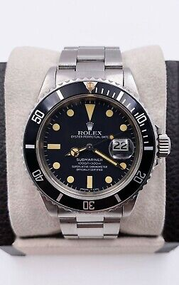 $ CDN19001 • Buy Vintage Rolex Submariner 16800 Stainless Black Dial 1982