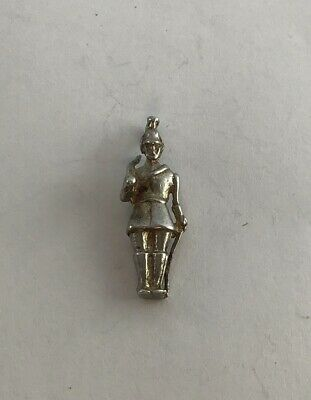BC Vintage Sterling Silver Charm Of A Soldier On Guard, One Of Many Listed • 5.99£