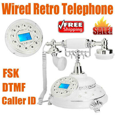Corded Retro Telephone Landline Answer Machine With FSK DTMF Caller ID Backlight • 46.96£