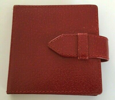 Beautiful Vintage Smythson Of Bond Street Red Leather Refillable Notecase • 55£